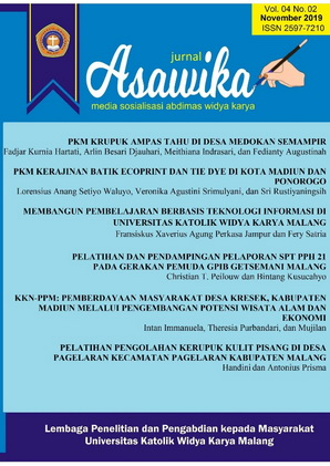 ASAWIKA: Sosialization Media of Widya Karya Community Service